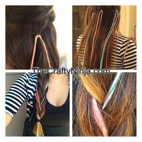 kool aid yarn dye hair braid  crafty ninja
