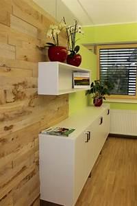 Wohnzimmer Wand Holz : eiche massiv holz wandverkleidung im wohnzimmer halbe wand ~ Lizthompson.info Haus und Dekorationen