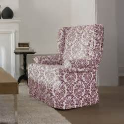 surefit chelsea relaxed fit wing chair slipcover
