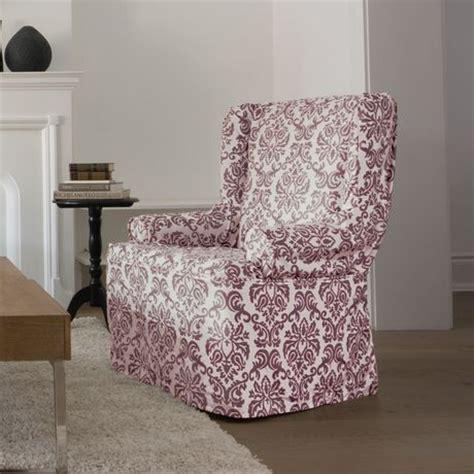 wing chair slipcover walmart canada surefit chelsea relaxed fit wing chair slipcover
