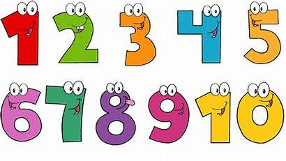 Clipart Numbers Number Cartoon Transparent Clip Paint