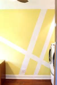 dekorative wandgestaltung mit farbe geometrische muster als wanddekoration und andere interessante ideen