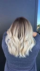 Trendy Hair Highlights Blonde Balayage Dark Roots With