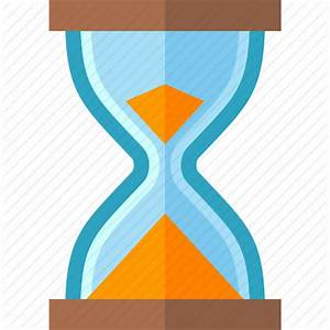 Hourglass, sand clock, sand timer, time management icon ...