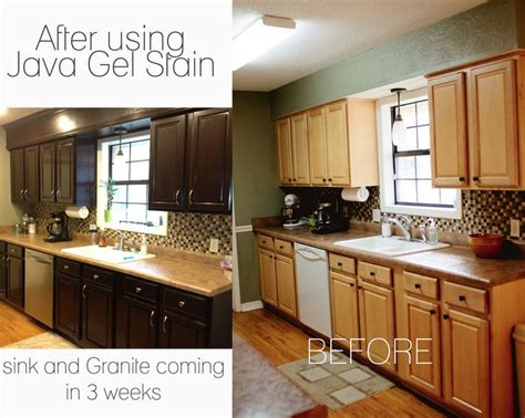 Gel Stain Cabinets Before And After by Gel Stained Cabinets Before And After Thank You Pintrest