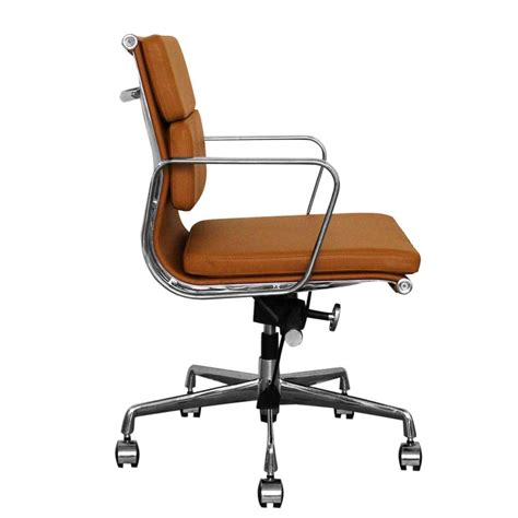 Office Chairs Uk by The Inventors Brown Leather Back Soft Pad Style