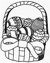 Easter Coloring Basket sketch template