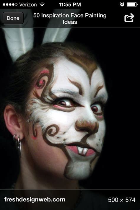 hase schminken erwachsene rabbit kathryn s play gesicht schminken karneval schminken fastnacht kost 252 me