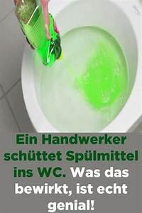 Geschirrspültabs In Waschmaschine : ein handwerker sch ttet sp lmittel ins wc was das bewirkt ~ A.2002-acura-tl-radio.info Haus und Dekorationen