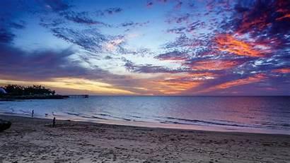 Sunset Beach Ocean Cancun Mexico Romantic Desktop