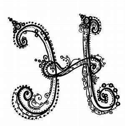 Fancy Letter L | Fancy H Letter | Drawing | Pinterest ...