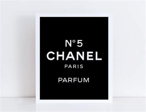 Chanel No. 5 Logo Art Print Coco Chanel By Themisspixelshop