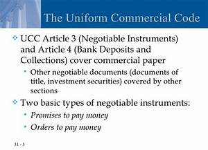 Chapter 31 negotiable instruments for Documents of title ucc
