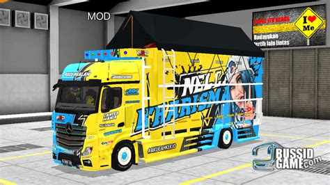mod truck canter actros  wsp mods gudang livery skin