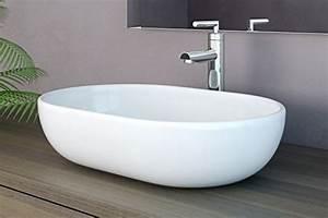 Waschbecken Oval Aufsatz : neg waschbecken uno34a oval aufsatz waschschale waschtisch wei mit hohem rand und nano ~ Frokenaadalensverden.com Haus und Dekorationen