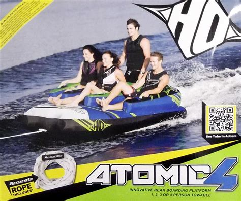 Ho Boat Tubes by New Big Ho Sports Atomic 4 Towable 1 2 3 O4 Person Water