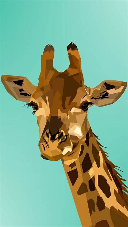 Giraffe Vector Muzzle Iphone Face Background Parallax