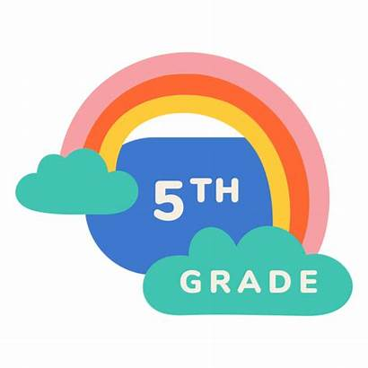 Grade 5th Rainbow Label 4th 1st Transparent