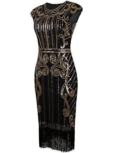 vijiv  vintage inspired sequin embellished fringe