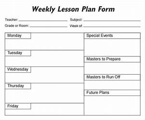 lesson plan template 1 organization pinterest lesson With 6 week lesson plan template