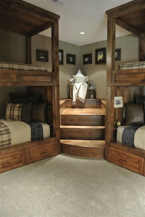 Good Looking Bunk Beds With Stairs trend Other Metro Rustic Bedroom Decorators with built in