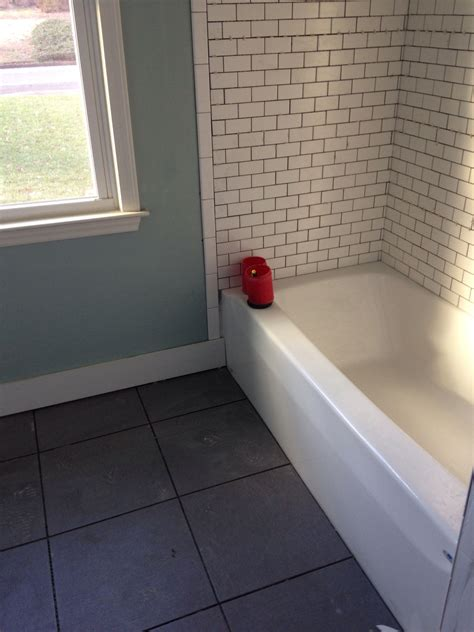 Lowes Bathroom Paint Colors by Sherwin Williams Quietude White Subway Tile And Gino Gray