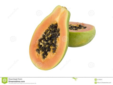 how to cut a papaya papaya fruit cut in halves royalty free stock photo image 2176015