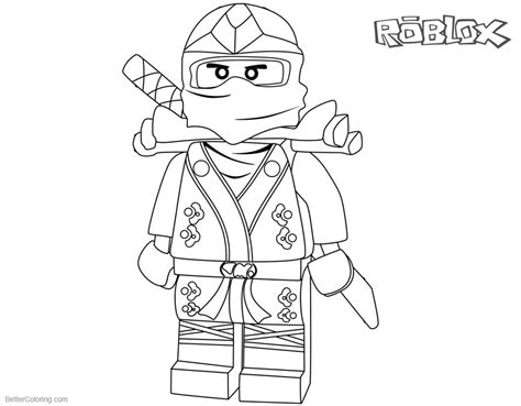ninjago character  roblox coloring pages