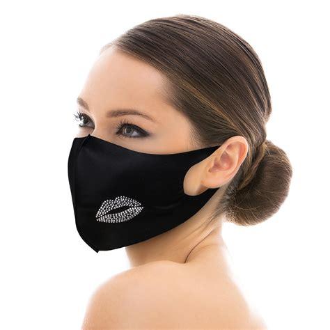 fashion pattern studded bling rhinestone reusable face mask ikatehouse