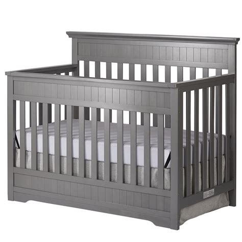 gray convertible crib on me chesapeake 5 in 1 convertible crib in