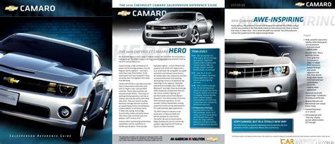 chevrolet camaro  sales brochure leaked  caradvice