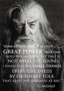 Keeping the Dar... Gandalf Wizard Quotes