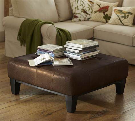 pottery barn leather coffee table coffee table ottoman pottery barn for the home pinterest