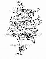 Flapper 1940s Movie Coloring Stars Butterfly Woman Clip Bugs Fantasy Flower sketch template