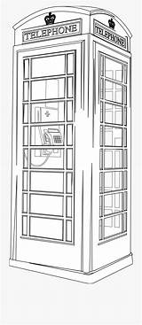 Booth Telephone Coloring Phone Box Clipart Cartoon Netclipart Strip sketch template