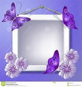 Photo Avec Cadre : cadre de photo avec des fleurs et des papillons photo stock image 33734770 ~ Teatrodelosmanantiales.com Idées de Décoration