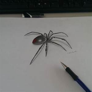 Small And Simple Black Widow Spider Tattoo Design Stencil ...