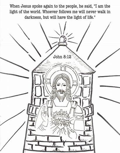 Jesus John Coloring Pages Bible Catholic Journaling