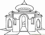 Mosque Coloring Pages Coloringpages101 sketch template