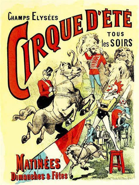 affiche cuisine circus cirque d 39 ete sunday champs elysees clown