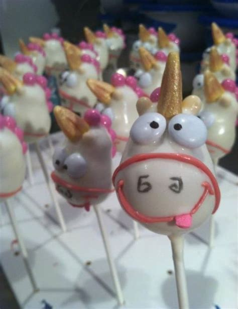 unicorn cake pop  despicable  despicable  party