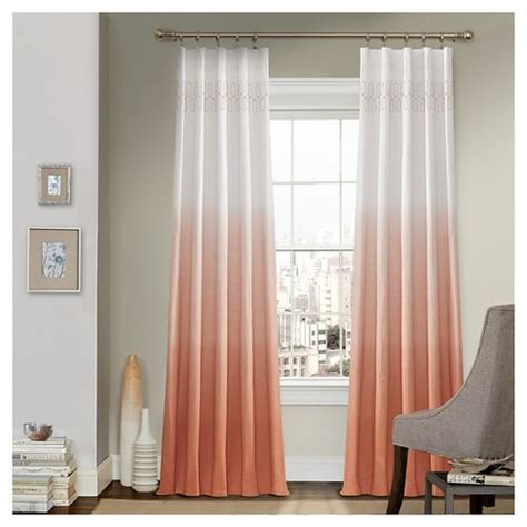 Target Drapery Panels by Curtain Panels Vue Signature Melon Ombre Design Target