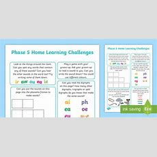 * New * Phase 5 Home Learning Challenges  Letters And Sounds
