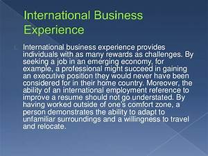 The Benefits of International Business Experience