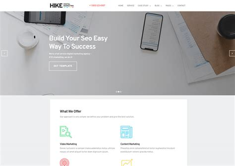 digital marketing websites digital marketing website template hike bold design