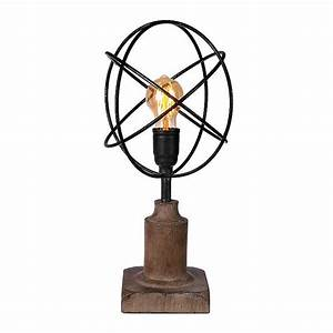 Metal Sphere Edison Bulb Table Lamp Kirklands