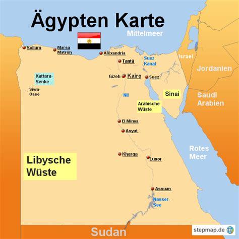 aegypten karte von karten landkarte fuer aegypten