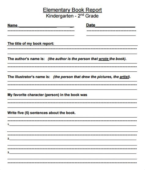 book report templates  samples examples
