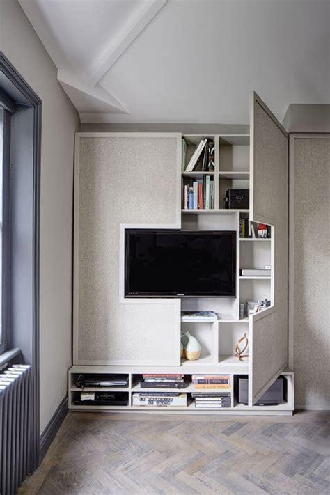 hidden  tv cabinet storage homemydesign