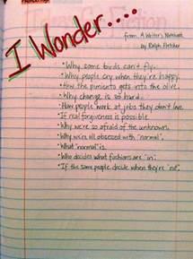 Writers Notebook Ideas